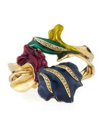 Oscar de la Renta - Metallic Pavé Swarovski® Crystal Tulip Bracelet - Lyst