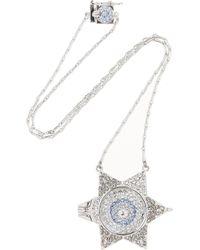 Eddie Borgo Metallic Silvertone Crystal Necklace