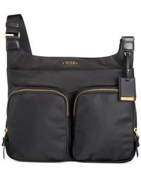 Tumi Black Voyageur Sadler Crossbody