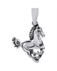Aeravida | Metallic Noble Stallion .925 Sterling Silver Horse Pendant | Lyst