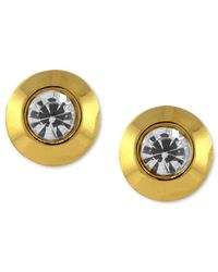 Vince Camuto | Metallic Gold-tone Crystal Stud Earrings | Lyst