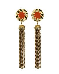 House of Harlow 1960 | Orange Sunburst Tassel Earrings | Lyst