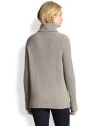 See By Chloé Gray Ribsleeved Turtleneck Sweater