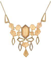 Alexis Bittar | Metallic Goldtone Citrine Articulated Bib Necklace | Lyst