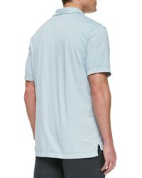 James Perse - Blue Sueded Jersey Polo Shirt  for Men - Lyst