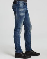 G-Star RAW - Blue Arc 3d Slim Fit Jeans In Medium Aged for Men - Lyst