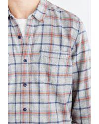 Stapleford Gray Bates Acid Plaid Flannel Button-down Shirt for men