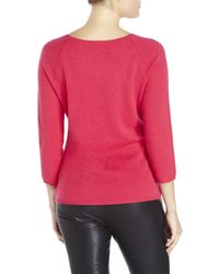 In Cashmere | Pink Raglan Sweater | Lyst