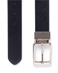 Canali Brown Reversible Leather Belt for men