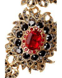 Oscar de la Renta | Metallic Gold-tone Crystal Necklace | Lyst