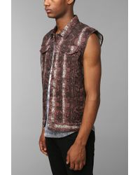 Urban Outfitters - Black Kc By Kill City Snake Print Vest for Men - Lyst