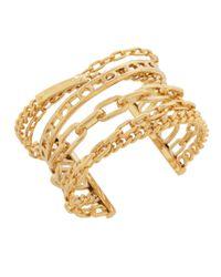 Henri Bendel - Metallic Deb Link Statement Cuff Bracelet - Lyst
