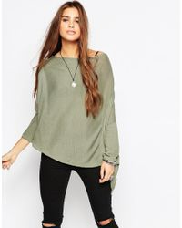 Free People | Green Lucky Day Swing Tee | Lyst