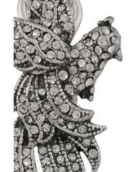 Lulu Frost - Metallic Aviary Silver-Plated Swarovski Crystal Earrings - Lyst