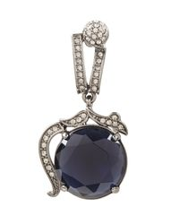 BCBGMAXAZRIA - Gray Vintage-inspired Gemstone Earrings - Lyst