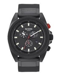 Nixon - Black 'rover' Chronograph Strap Watch for Men - Lyst