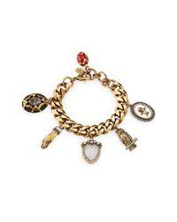 Alexander McQueen - Metallic Embellished Bracelet - Gold - Lyst