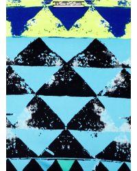 Mara Hoffman Blue Geometric Tribal Print Bikini Bottoms