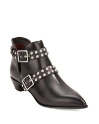 Marc By Marc Jacobs | Black Carroll Studded Leather Booties | Lyst
