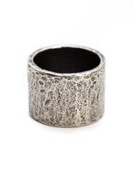 M. Cohen - Metallic Carved Tube Ring for Men - Lyst