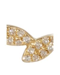 EF Collection | Metallic 14k Gold And Diamond Floating Leaves Single Earring | Lyst