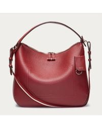 Bally Fiona Medium Women's Leather Shoulder Bag In Red