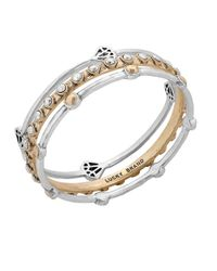 Lucky Brand | Metallic Gifting Bracelets Two-tone Bangle Set | Lyst