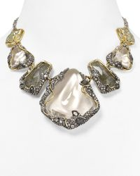 Alexis Bittar | Multicolor Lucite Labradorite Crackle Vine Draped Large Bib Necklace 16 | Lyst
