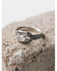Free People | Metallic Moonstone Deco Ring | Lyst