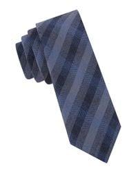 John Varvatos | Blue Seasonal Checked Tie for Men | Lyst