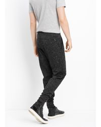 Vince Black Flecked Luxe Knit Jogger for men