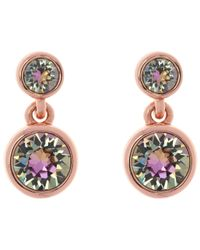 Karen Millen | Metallic Swarovski Crystal Dot Drop Earrings | Lyst