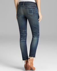 Rag & Bone Blue Jeans The Crop Light Weight Denim in Antique Wash