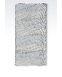 Armani - Gray Plissé Wrap - Lyst