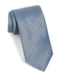Ermenegildo Zegna | Blue Geometric Silk Tie for Men | Lyst