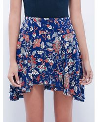 Free People | Blue Womens Empire Mini Skirt | Lyst