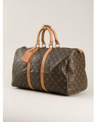 Louis Vuitton Brown Monogram '45' Keepall Bag
