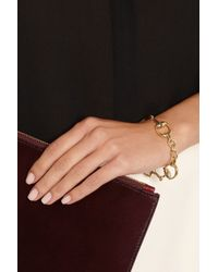 Gucci | Metallic 18-karat Gold Horsebit Bracelet | Lyst