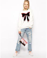 Love Moschino Pink Charming Girl Airplane Clutch Bag