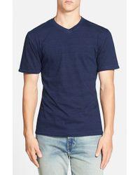 Red Jacket Blue Indigo V-Neck T-Shirt for men