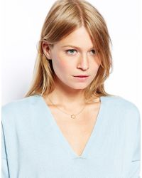 ASOS - Metallic Gold Plated Sterling Silver Hexagon Necklace - Lyst
