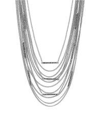 Lucky Brand | Metallic Modern Shine Draped Chain Bib Necklace | Lyst