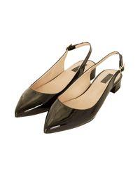TOPSHOP | Black Kathleen Patent Shoes | Lyst