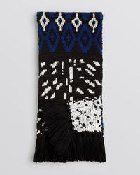 Bloomingdale's Black Hand-knit Ski Scarf for men