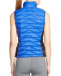 Lauren by Ralph Lauren | Blue Colorblocked Quilted Vest | Lyst