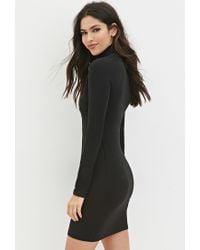 Forever 21 - Black Classic Turtleneck Dress - Lyst