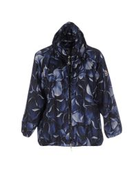Moncler | Blue Floral-Print Casual Jacket  | Lyst