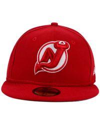 KTZ   Red New Jersey Devils C-Dub 59Fifty Cap for Men   Lyst