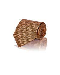 Brioni - Orange Men's Floral Satin Necktie for Men - Lyst