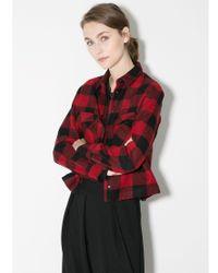 Mango Black Check Wool Blend Overshirt